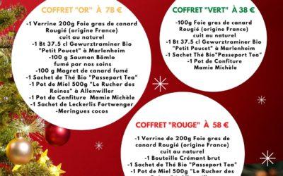 """""""Idée cadeau"""" : Coffrets gourmands en vente à partir du 1er décembre"""