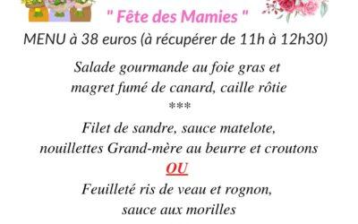 """Dimanche 7 mars """"Menu spécial fête des mamies"""""""